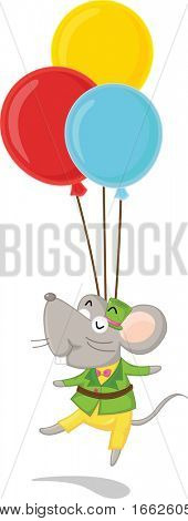 mouse and balloons (vector image available in portfolio)