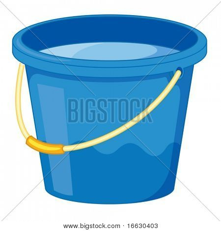 clipart style cartoon of a bucket