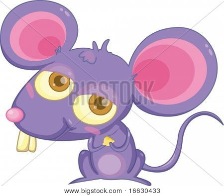 clipart style cartoon of a mouse