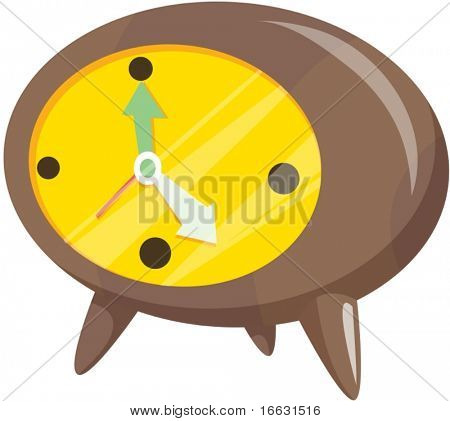 illustration of  clock on white