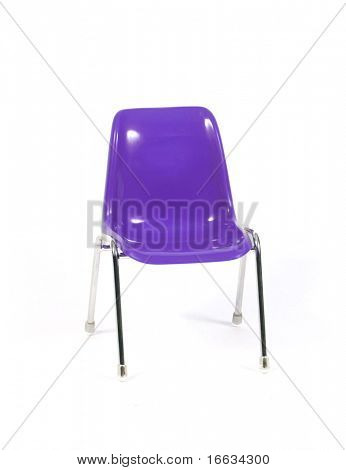 purple chair on white