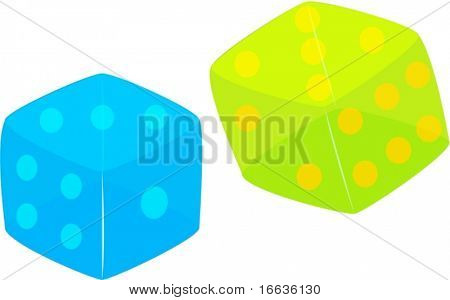 illustration of dice on white