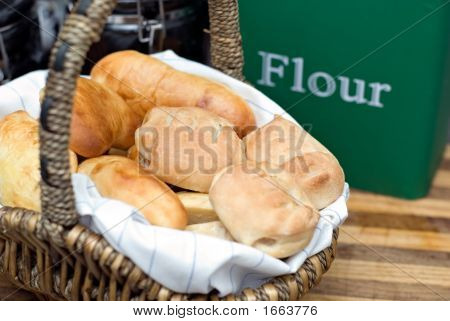Basket Of Baked Goods