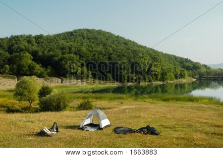 Camping By Lakeside