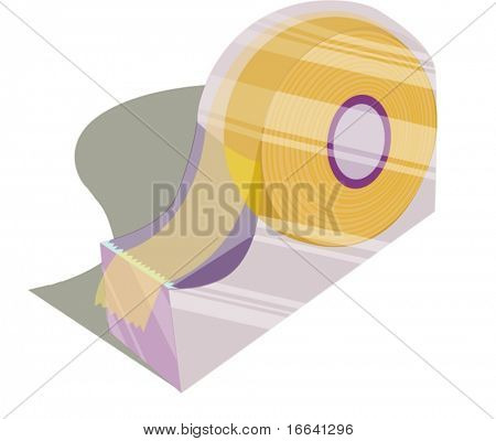 Illustration of a tape dispenser on a white background