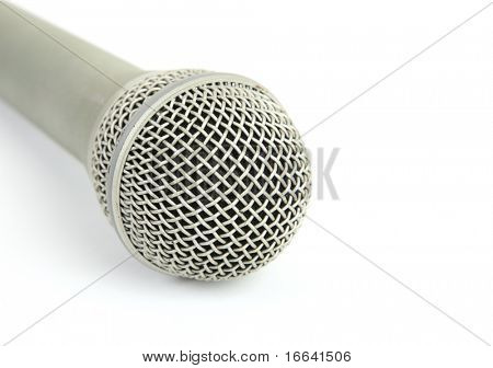 Mic on a white background