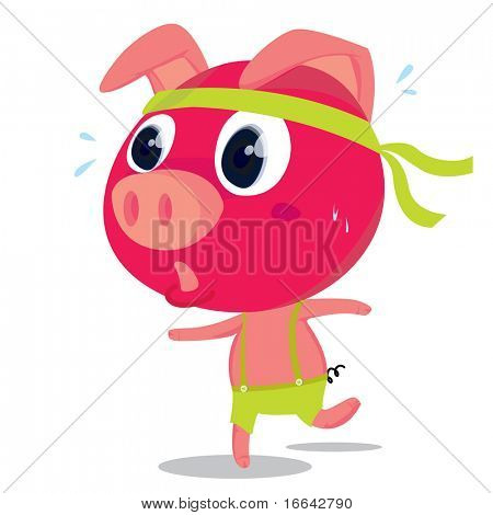 Illustration of a pig on white background
