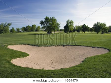 Golf Course Deep Sandtrap