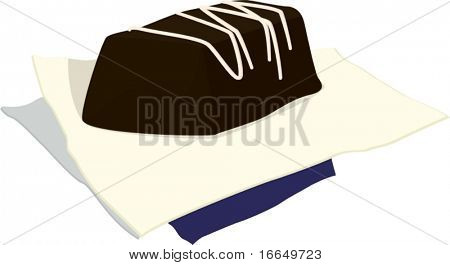 illustration of a paper and paperweight on a white background