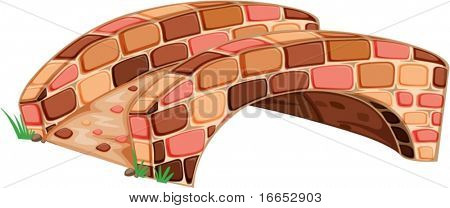 illustration of bridge on a white background