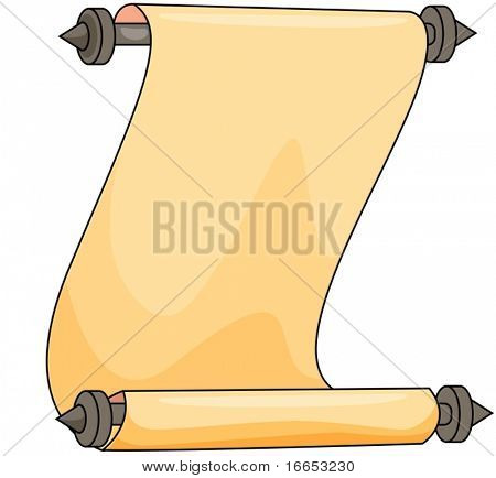 illustration of a letter on a white background