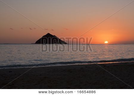 Sunrise At Lanikai Beach, Oahu, Hawaii