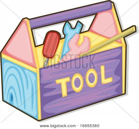illustration of tool box on a white background