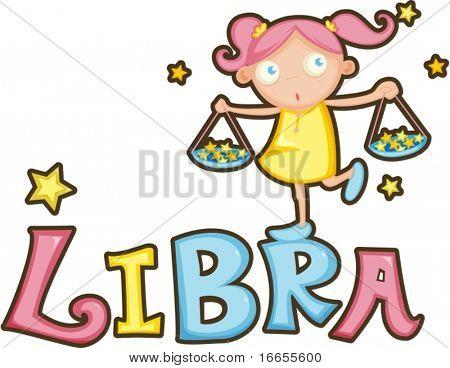 illustration of Zodiac sign libra on a white background