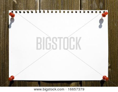 Blank Notepad Page On Wooden Background