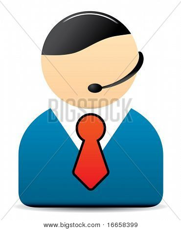 Office Worker Vector Icon