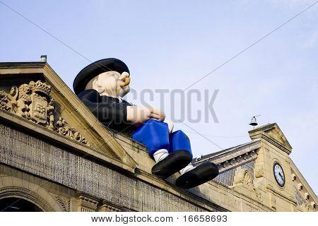 Big Man On The Roof. Saint Sebastian. Spain