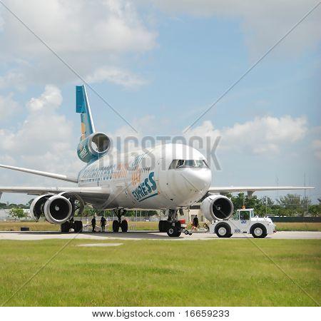 Retired Jet Airplane Cut For Scrap Metal