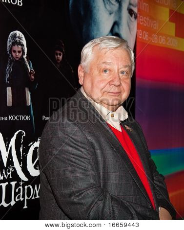 MOSCOW - JUNE,20: Actor Oleg Tabakov. Press Conference of Film