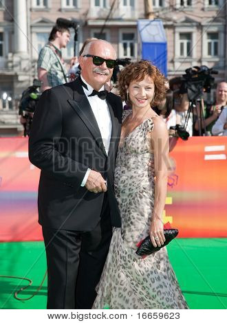 MOSCOW - JUNE,28: President Of Festival Nikita Mikhalkov And Actress Alena Babenko. Closing Ceremony Of 31st Moscow International Film Festival at Pushkinsky Cinema . June 28, 2009 in Moscow, Russia.