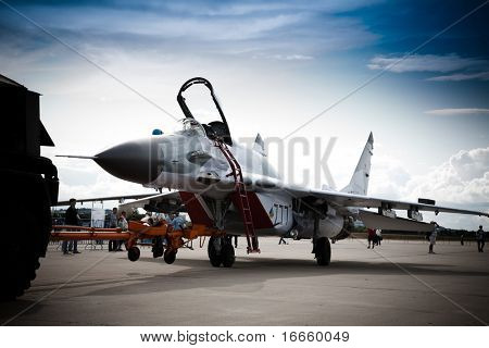 MOSCOW, RUSSIA, AUGUST,19: Fighter Mig-29 at the International Aviation and Space salon MAKS,  August,19, 2009 at Zhukovsky, Russia
