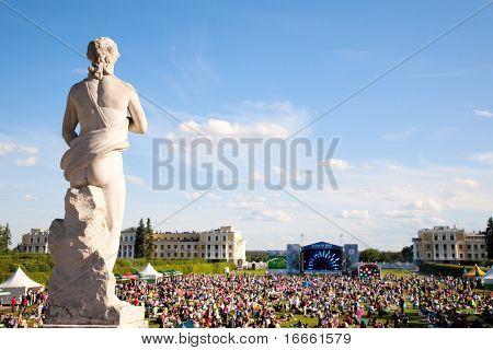 ARKHANGELSKOE - JUNE 6:  7th International Jazz Festival