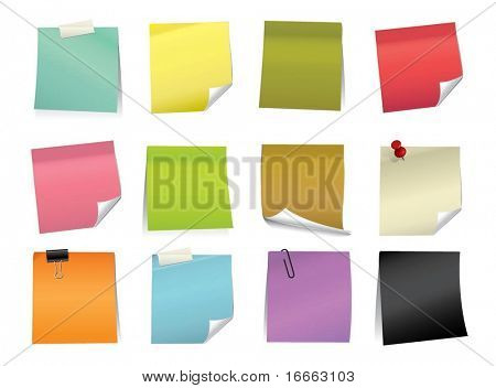 Vector Color Note Pad