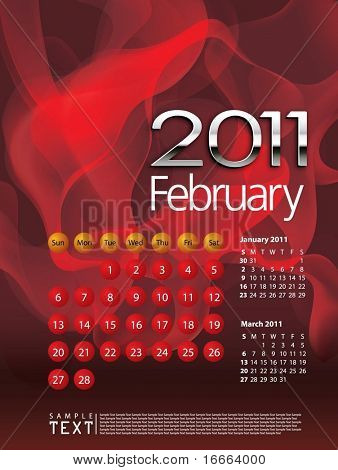 Kalender Februar 2011
