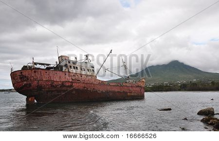 Shipwreck at Nevis Island