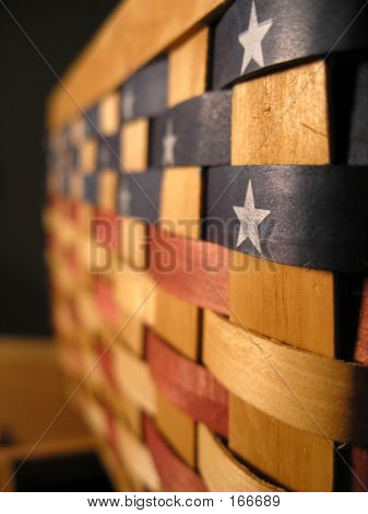 American Flag Basket