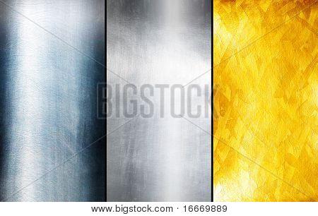 Three texture metal
