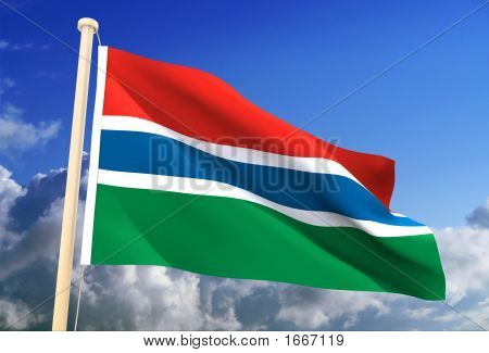 Gambia Flag (Clipping Path)