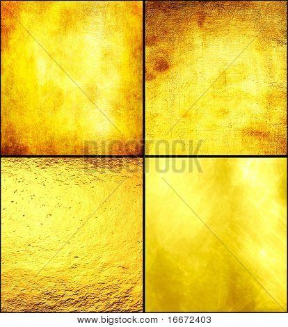 Textura de lujo oro set.