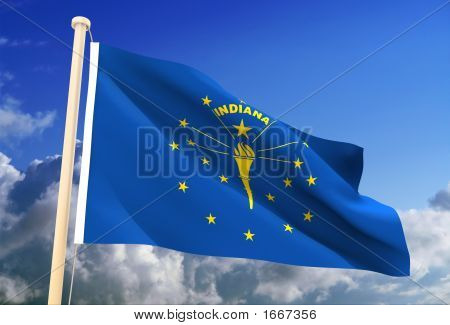 Indiana Flag (Clipping Path)