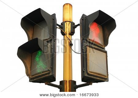 traffic light with white background