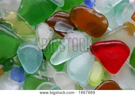 Wet Glass Stones