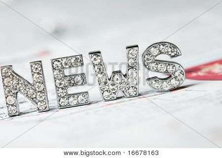 text of 'news' on newspaper