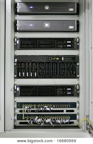 racks in communication servers center