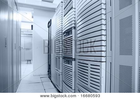 communication data center interior