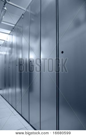 communication server ceter interior( in blue tone)