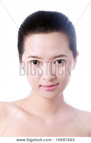 close up Portrait of sexy asian young woman