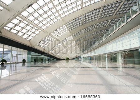 hall of beijing T3 airport station