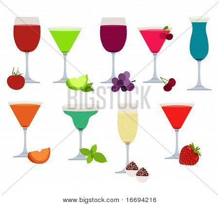 Reihe von verschiedenen Parteien Getränke