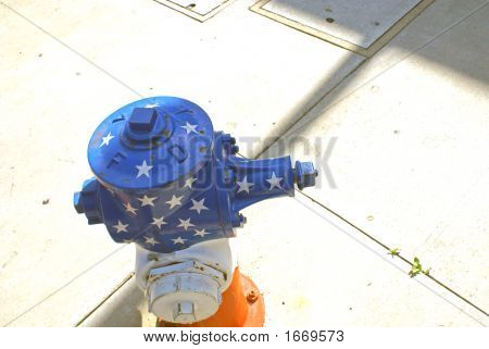 Patriotic Fire Hydrant