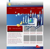 website template for internet business