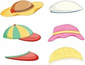 pic of convocation  - illustration of a hats on a white background - JPG