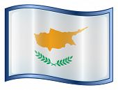 Cyprus Flag Icon. ( With Clipping Path )