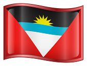 Antigua And Barbuda Flag Icon. (With Clipping Path)