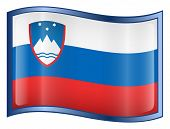 Slovenia Flag Icon. (With Clipping Path)