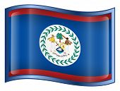 Belize Flag Icon (With Clipping Path)